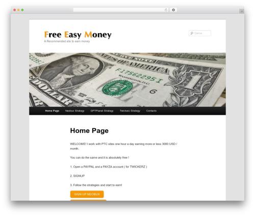 WordPress theme Twenty Eleven Child - ptcmoneysite.com