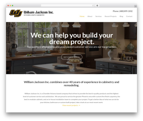 WP theme Salient - williamjacksoninc.com