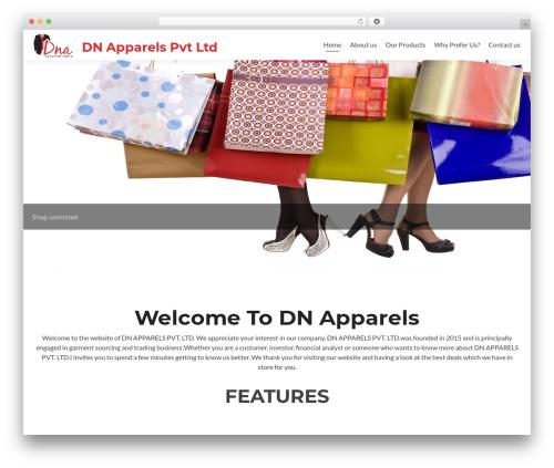 Zerif Lite free WordPress theme - dnapparels.com