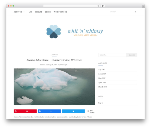 Activello template WordPress free - whitnwhimsy.com