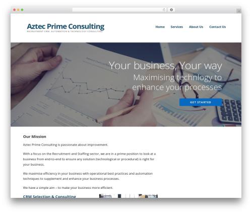 Ascension business WordPress theme - aztecprime.com