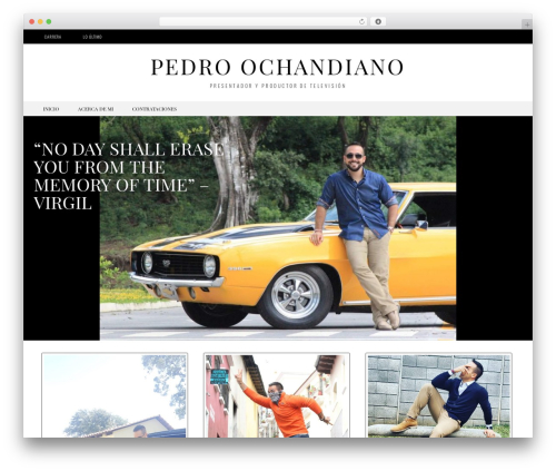 Black And White WordPress page template - pedroochandiano.com