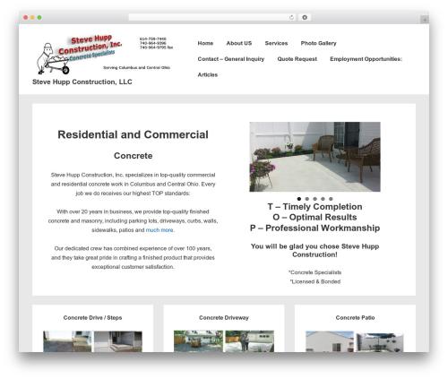 Responsive template WordPress free - stevehuppconstruction.com