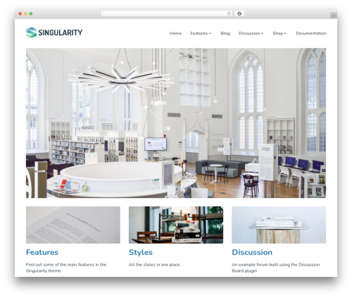 Singularity WordPress template - singularitytheme.com