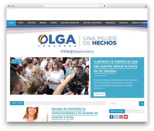 WordPress website template Merlin - senadoraolgasuarez.com