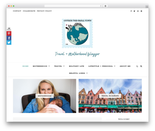 Ashe WordPress theme - outsidethissmalltown.com