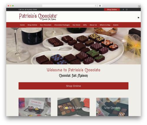 Best WordPress template Enfold - patriciaschocolate.com