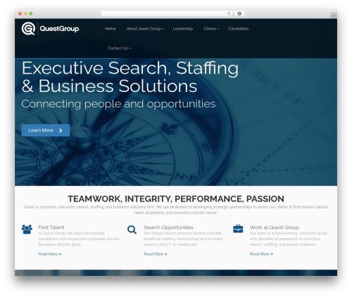 Eden business WordPress theme - questgroupsearch.com