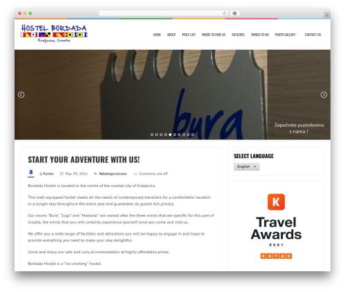 LiveBlog best free WordPress theme - hostelbordada.com