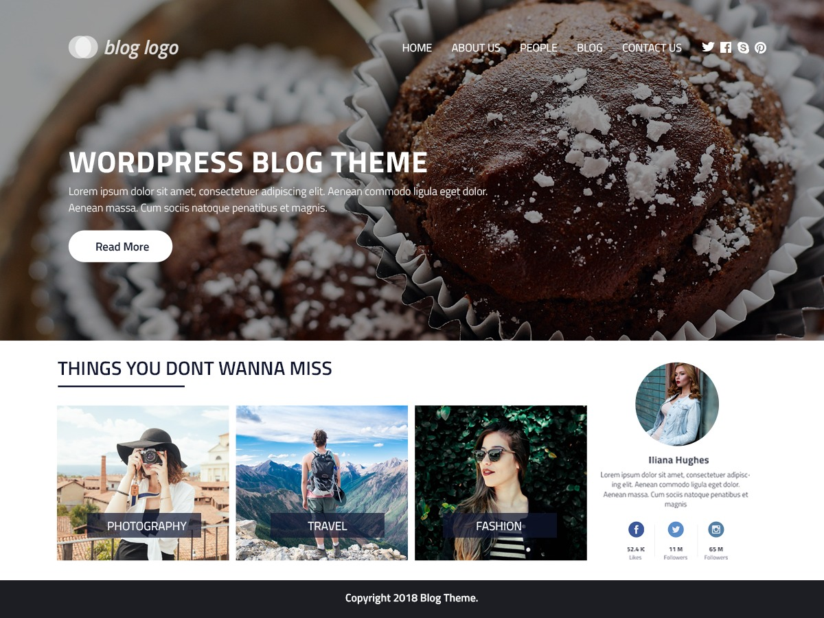 Perfect Blog WordPress news template