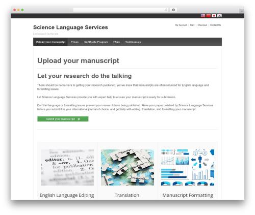 Responsive WordPress free download - sciencelanguageservices.com