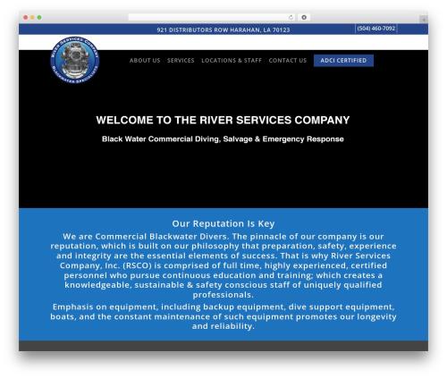 Theme WordPress Salient - riverservicescompany.com