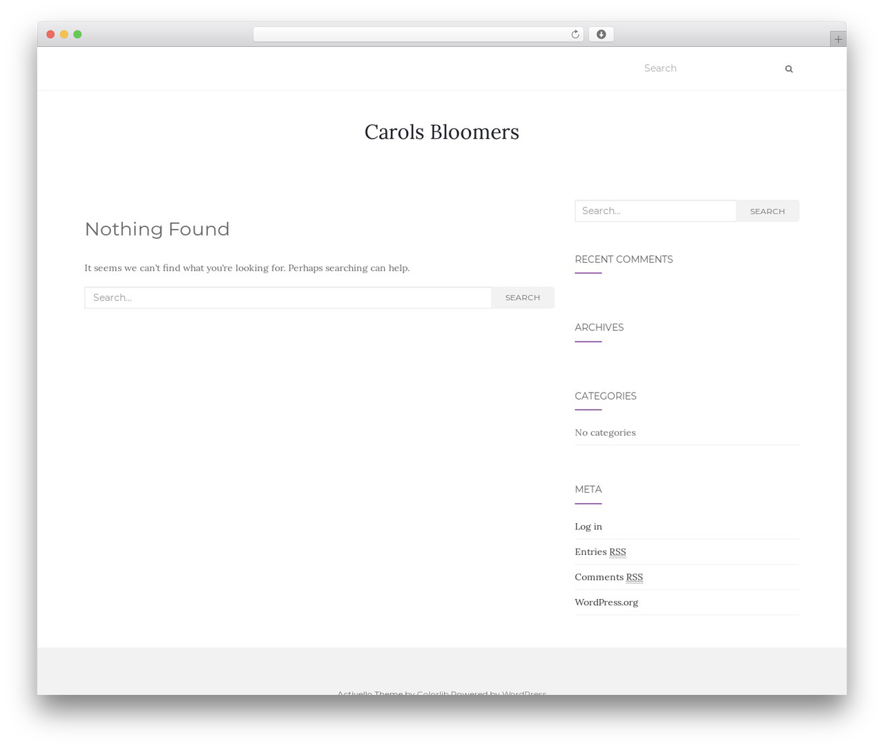 WordPress theme Activello - carols-bloomers.com