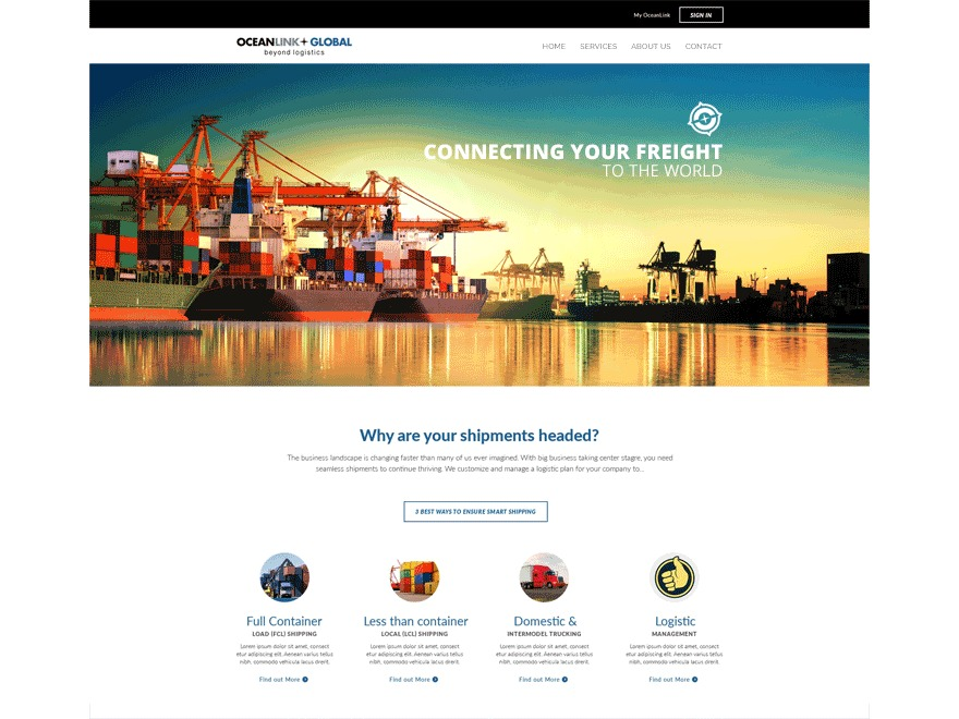 WordPress theme Ocean Link Global