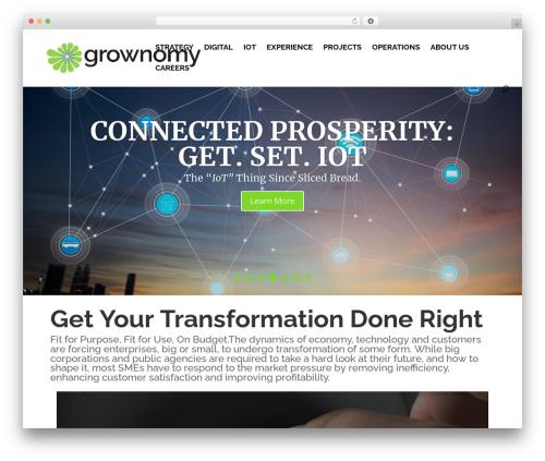 WordPress website template Divi - grownomy.com