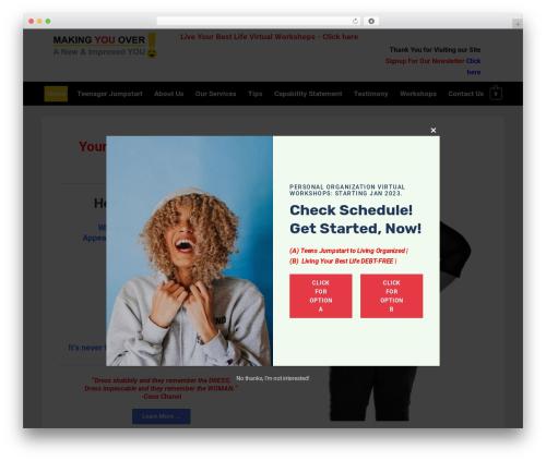 Responsive best free WordPress theme - makingyouover.com