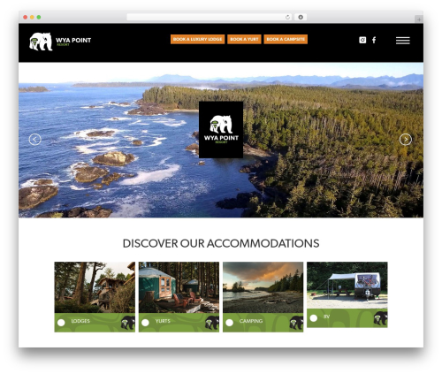 WordPress theme Wya Point Resort Theme - wyapoint.com