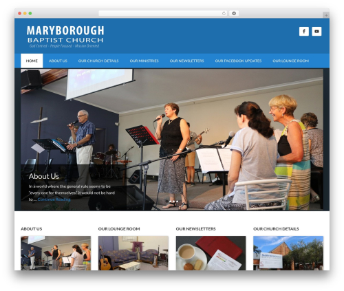 WordPress website template Outreach Pro - maryborough-baptist-church.com