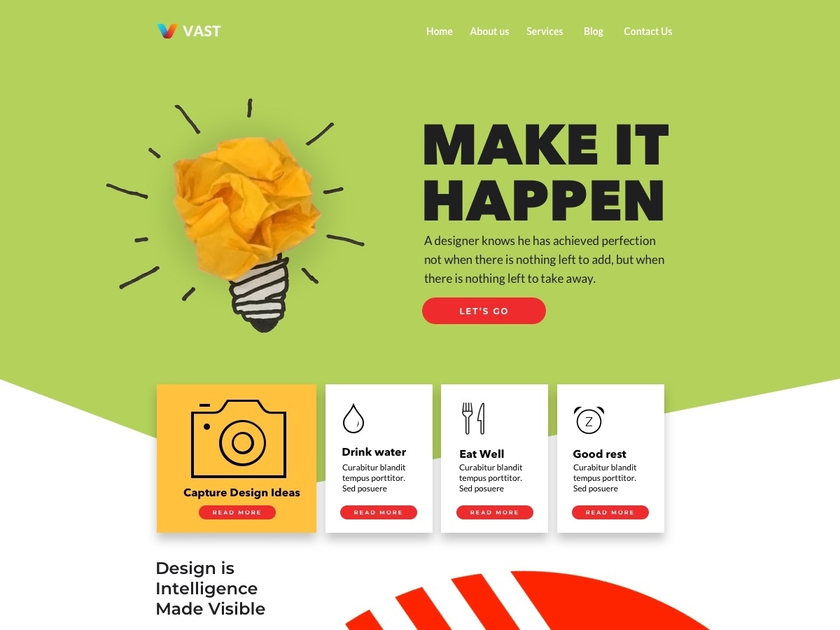 WordPress website template Vast