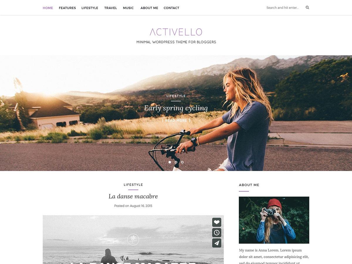 Activello ChildTemplate: activello*/ WordPress website template