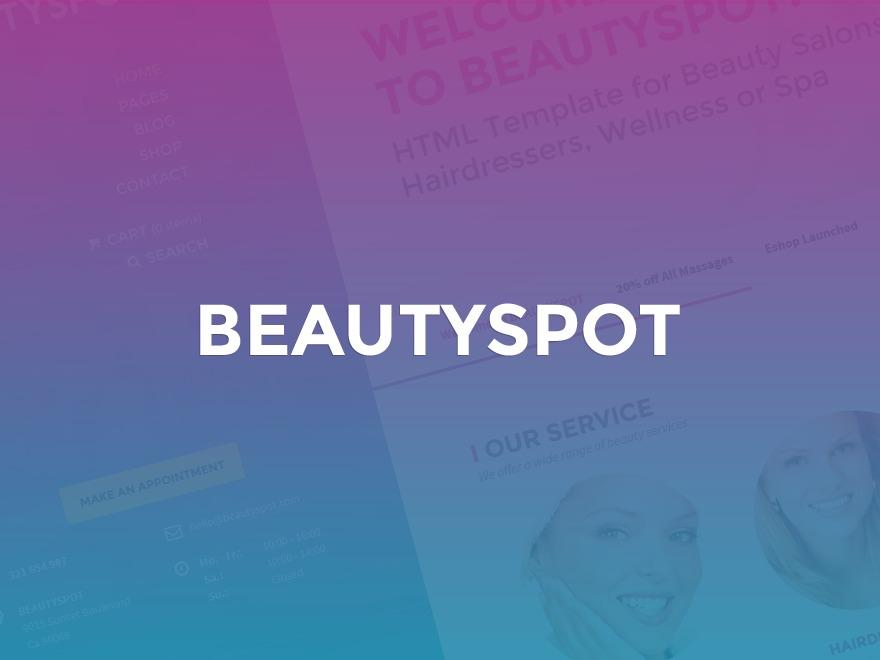 BeautySpot WordPress shopping theme