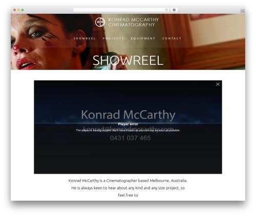 Bridge premium WordPress theme - konradmccarthy.com