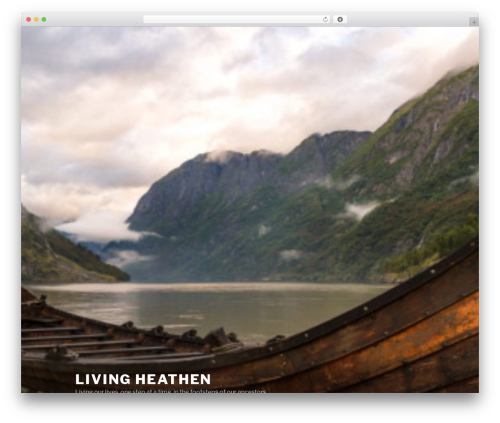Twenty Seventeen free WordPress theme - living-heathen.com