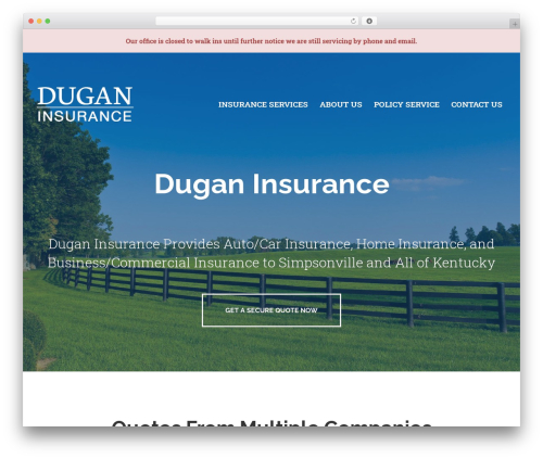 WordPress theme BrightFire Stellar - duganinsuranceky.com