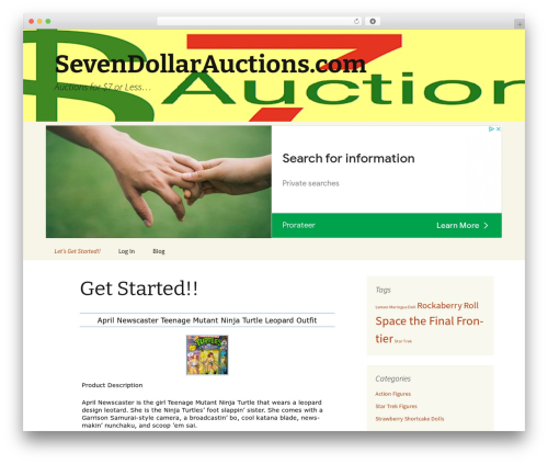 WP theme Twenty Thirteen Child - sevendollarauctions.com