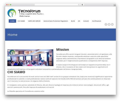 Appointment theme WordPress - tecnoforum.org/home