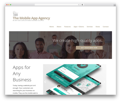 Ascension company WordPress theme - themobileappagency.com