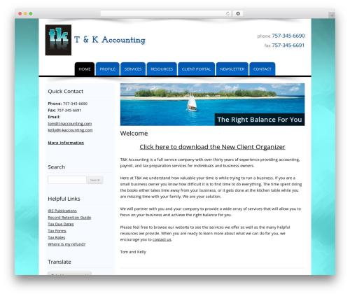 Best WordPress theme Customized - t-kaccounting.com