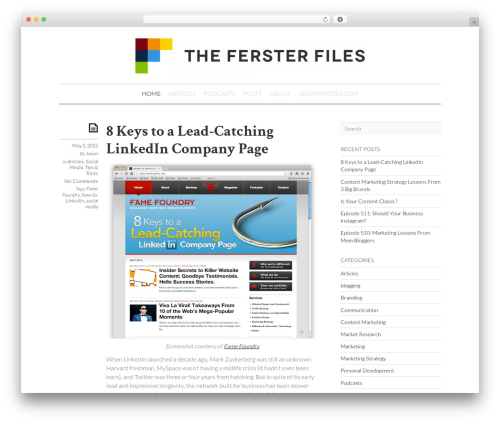 Best WordPress theme Elemin - thefersterfiles.com
