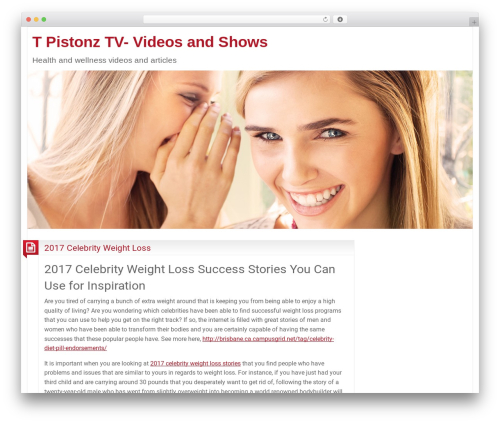 BlogoLife WordPress video template - t-pistonz.tv