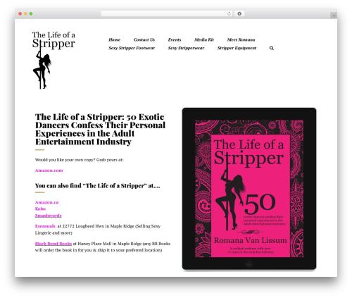 Booker WordPress template - thelifeofastripper.com