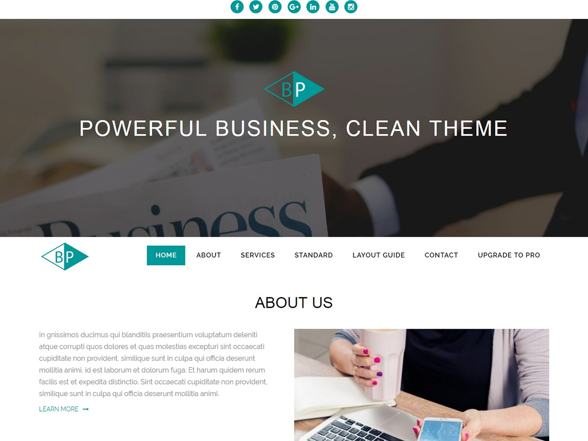 Business Park free WordPress theme