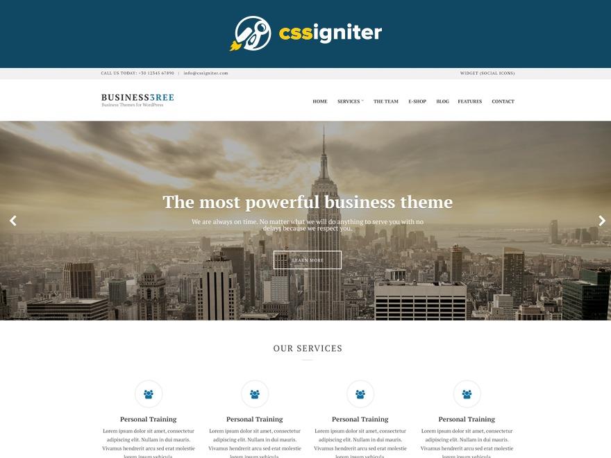 Business3ree company WordPress theme