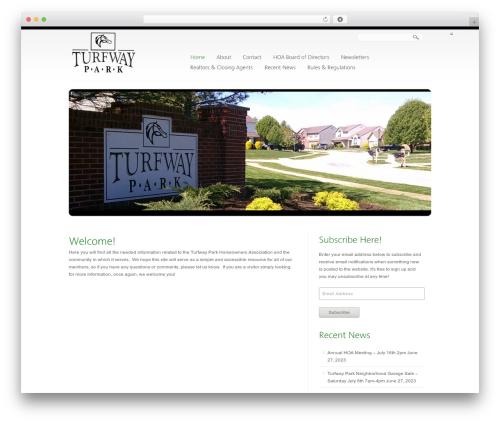 Creation WP theme - turfwaypark.org