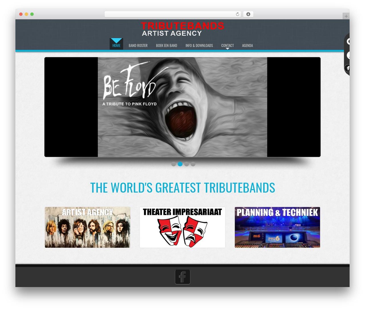 D5 Business Line Extend WordPress template for business - tributebands.nl