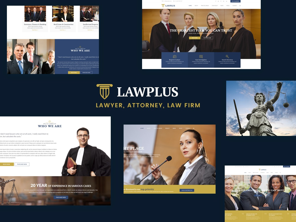 LawPlus WordPress template for business