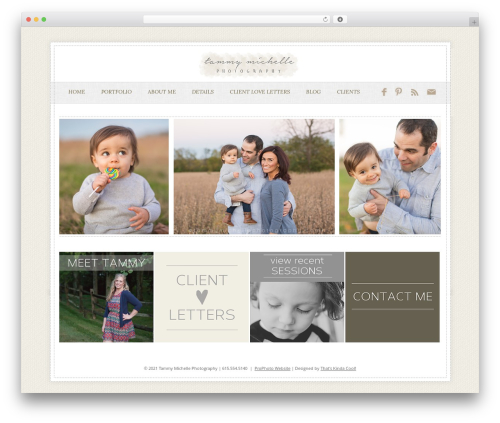 ProPhoto WordPress gallery theme - tammymichellephotography.com