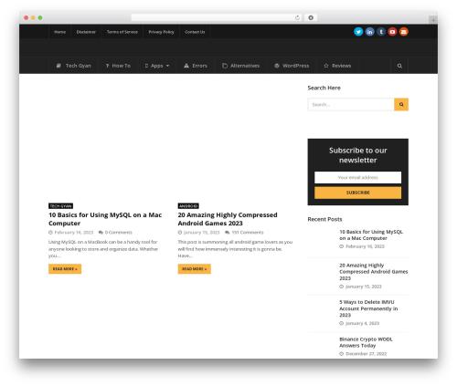 Status WordPress shopping theme - tricksntech.com