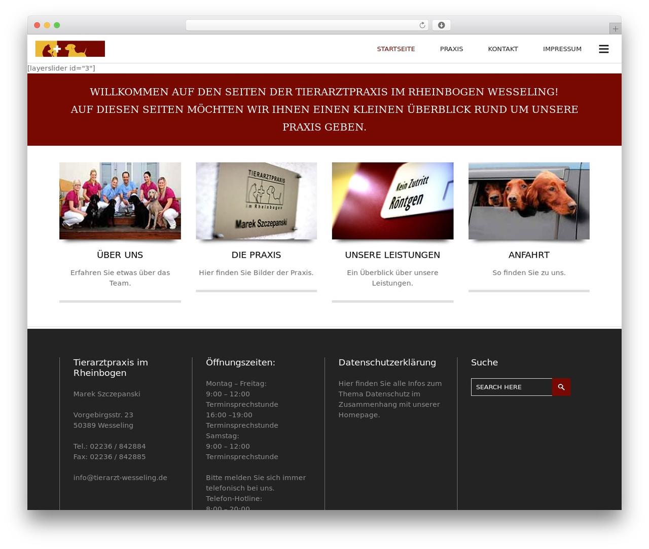 Subway WordPress page template - tierarzt-wesseling.de