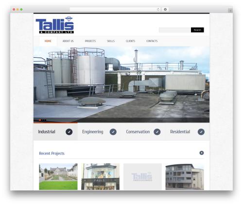 theme1512 business WordPress theme - tallis.ie