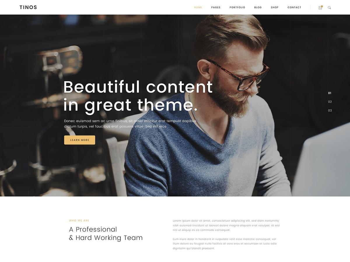 Tinos theme WordPress