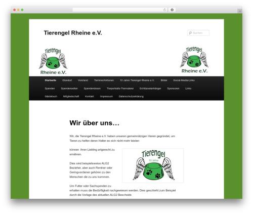 Twenty Eleven WordPress theme - tierengel-rheine.de