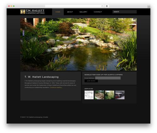 WordPress theme Custom Theme - twhallett.com