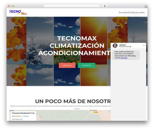 Zerif Lite template WordPress - tecnomax.es
