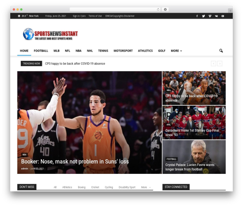 Best WordPress theme Newspaper - sportsnewsinstant.com