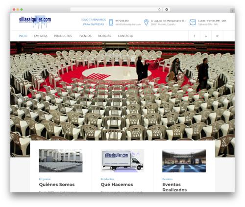 Bridge WordPress website template - sillasalquiler.com